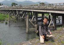 渡月橋の上流側