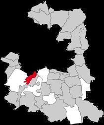 In rosso la regione di Pullach