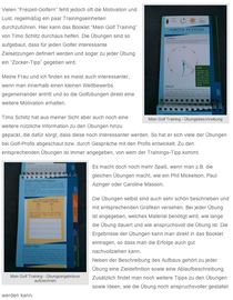 "Screenshot von ""Mein Golf Blog"""