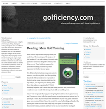 Screenshot von golficiency.com