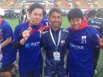 2016ロンドン世界大会にて後輩の玄島くんと勝田くんと。