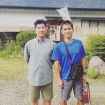 大学時代の先輩、齋藤さんと。齋藤さんが居なかったら今の自分はない。