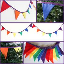 rainbow bunting pride flag gay gift lgbt