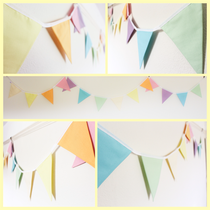 mixed pastels bunting pretty bright girl unicorn fabric flags gift present