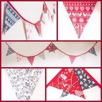 Scandinavian Red & Grey Christmas Bunting