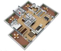 3D Grundriss ( DG ) Bauvorhaben Sterkrade