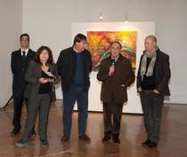 Elisa Martorana durante l'open day con il Presidente Giovani Avanti, Aldo Gerbino e Rosario Tornese