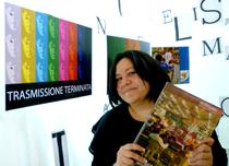 Elisa Martorana ritratta durante l'esposizione