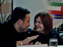 Elisa Martorana al tavolo dei relatori con Natale Giunta