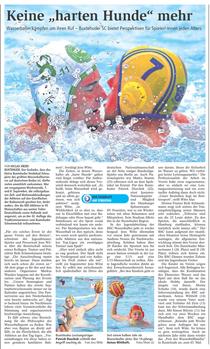 BSC-Wasserballturnier. Buxtehuder Tageblatt vom 10.09.2013
