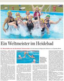 Spandauer Wasserballer beim Turnier in Buxtehude. Hamburger Abendblatt vom 11.09.2013