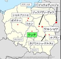 ポーランド、ウッチ地図