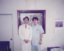 修行時代の私と張先生