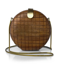 French Connection Wooden Box clutch bag
