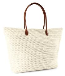 H&M White woven Tote bag