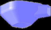 Übergangsstück mit Radius und Krempe