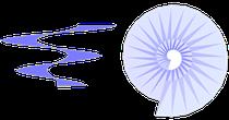 Spiralflächen in verschiedenen Formen