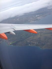 Insel Ciovo bei Trogir aus der Flugzeug Perspektive.