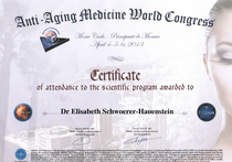 Dr. med. Elisabeth Hauenstein Certificate Anti Aging Congress