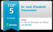Dr. med. Elisabeth Hauenstein Top 10 Jameda