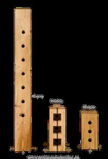 Holzblock Weinregal Holz