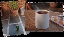 Bier in der Kaffeetasse