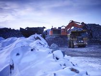 Truck at Raglan mine (c) Glencore