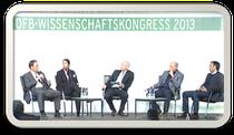 Podiumsdiskussion beim DFB Wissenschaftskongress