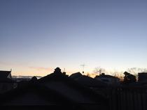 かすかに見えた夕焼け。