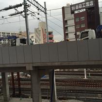 竹ノ塚駅の高架工事