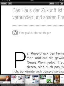 Selbst in der höchsten Zoom-Stufe keine Pixel in der Schrift zu sehen. Unipush Print optimiert für das Retina-Display des neuen iPads. (iPad 3-Screenshot, leider hier in Web-Auflösung nicht halb so gut)