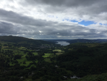 Rydal horseshoe towards Windemere