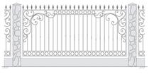 забор кованый тюмень купить фото