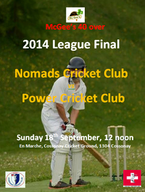McGee's 40 over cricket league final