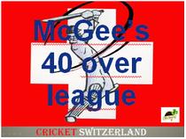 McGee's 40 over cricket league