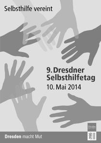 Titelbild der Infokarte Selbsthilfetag 2014 der LH Dresden (für die Anzeige der kompletten Karte - IN FARBE ! - bitte aufs Bild klicken)