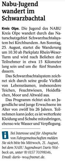 Westfalenpost, 14.08.2019