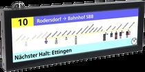Linienverlaufsdarstellung Straßenbahn