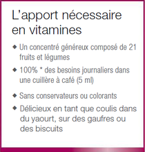 L'apport optimal avec dix vitamines, naturel !