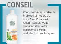 Buvez votre boisson aloé et miel pour améliorer les effets de Pro biotic12