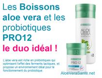 Et aidez vous de PRO 12 les probiotiques de LR avec 12 souches de bactéries le complément idéal des boissons aloe vera. Aloe vera sante et beauté LR Health and Beauty
