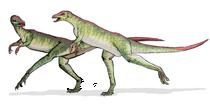 Bild zweier Lesothosaurier
