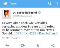 Ein Tweet des DBB