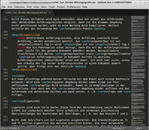 Fenster vom Sublime-Text-Editor.