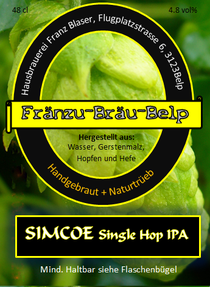Simcoe single hop ipa fränzu bräu belp