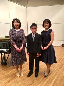 息子のピアノの発表会