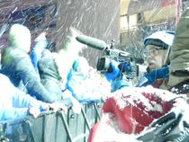 Kameramann in Schnee