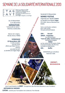 Tagayt - Semaine de la Solidarité Internationale 2013