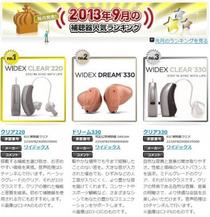 ワイデックス・2013年9月の補聴器人気ランキング