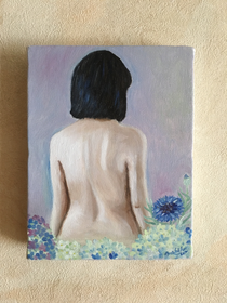 A woman's back tells a story